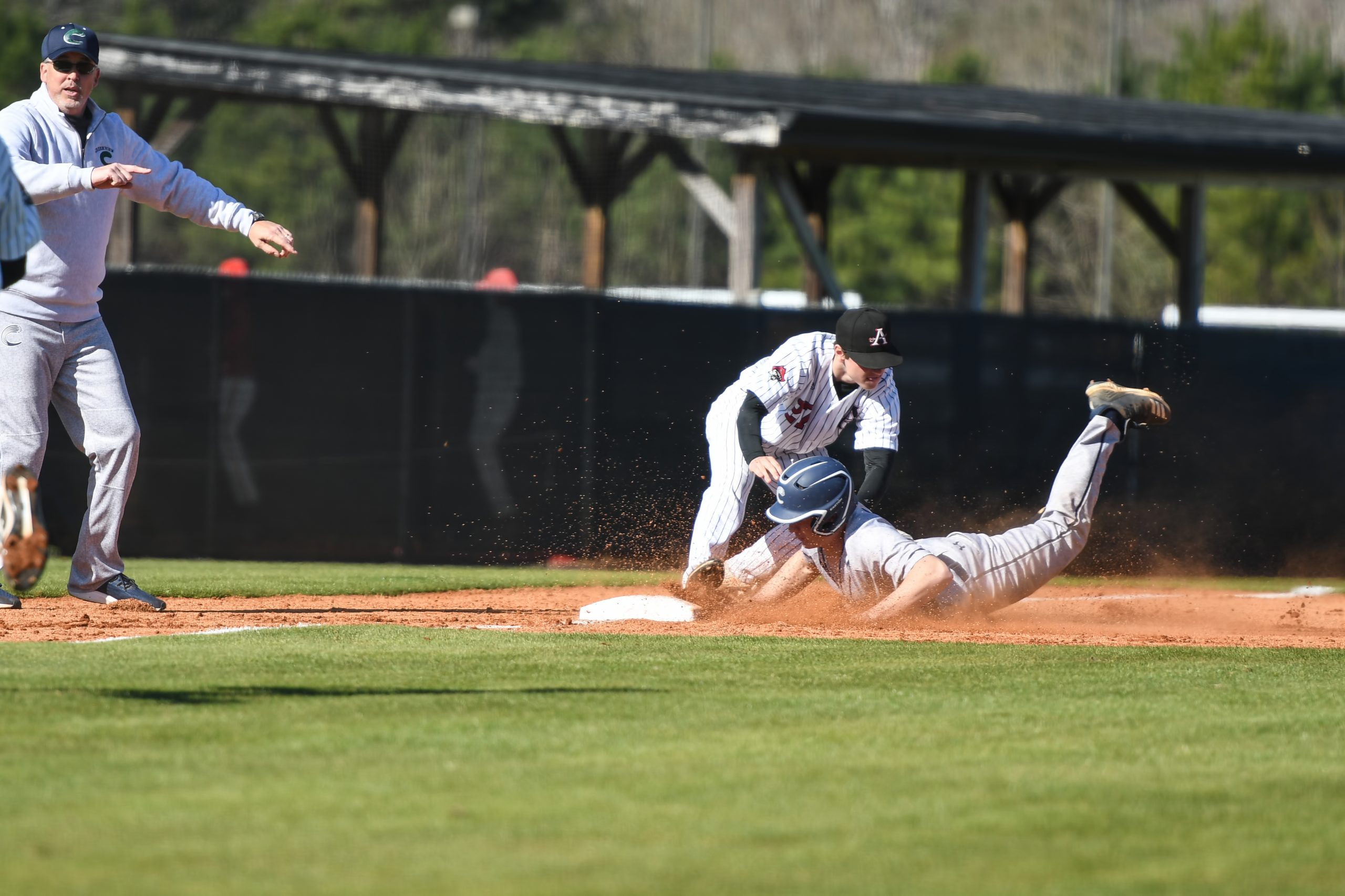 Allatoona Varsity Baseball vs Creekview on March 7, 2020 - Acworth, GA. Credit - Chrystal Moore